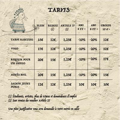 Tarif templerie